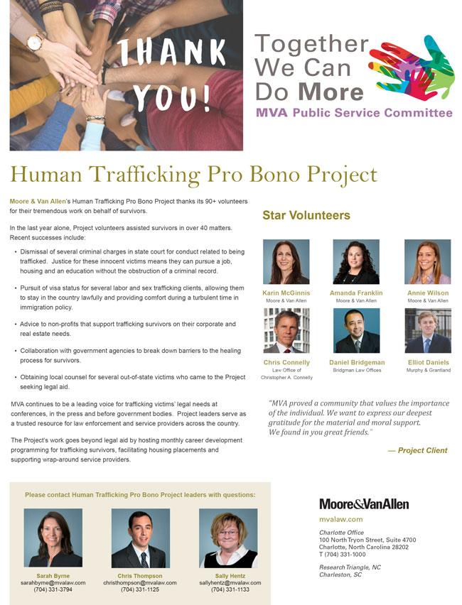 Human Trafficking Pro Bono Project